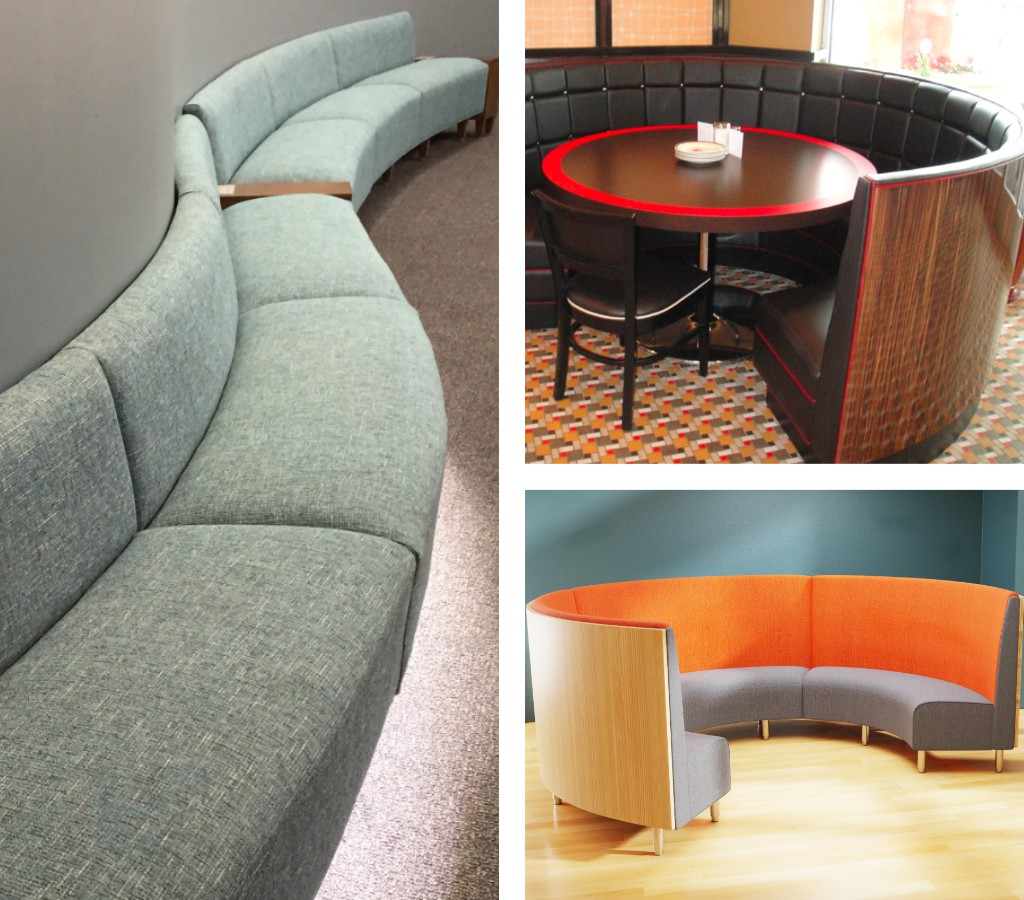 Custom Booth Banquette Or Benches For Curved Angled Walls Furniturelab